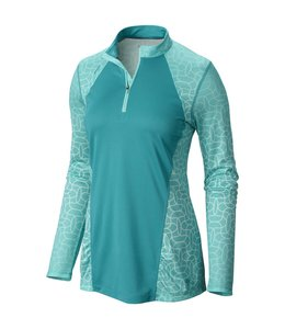 Mountain Hardwear Women's Wicked Electric Long Sleeve Zip- Mayan Green- XS