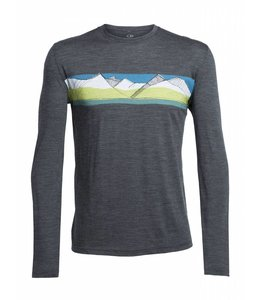 Icebreaker Men's Tech Lite Long Sleeve Crewe South Alps- XXL