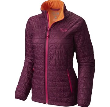 Mountain Hardwear Women's Micro Thermostatic Jacket Raspberry/Navel Orange XS