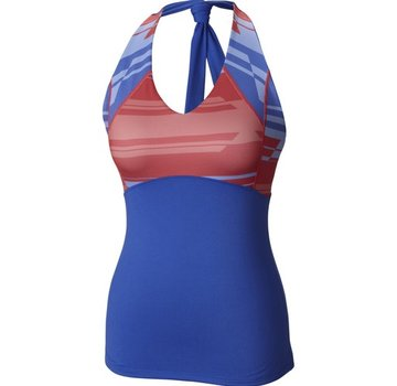 Mountain Hardwear Women's Butter Printed Tank-Cornflower