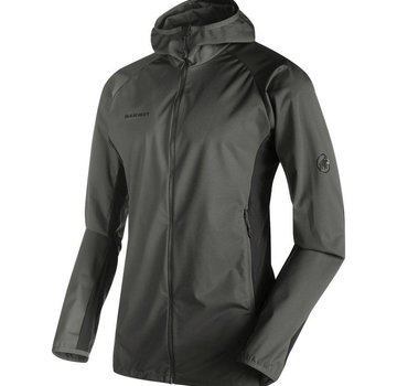 Mammut Men's Kento Light SO Hooded Jacket - S Titanium/ Dark Titanium