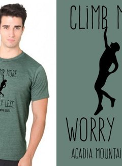 Mount Inspiration Acadia Mountain Guides Climb More, Worry Less T-Shirt-2020 version