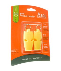 Survive Outdoors Longer Rescue Howler Whistle, Pkg/2
