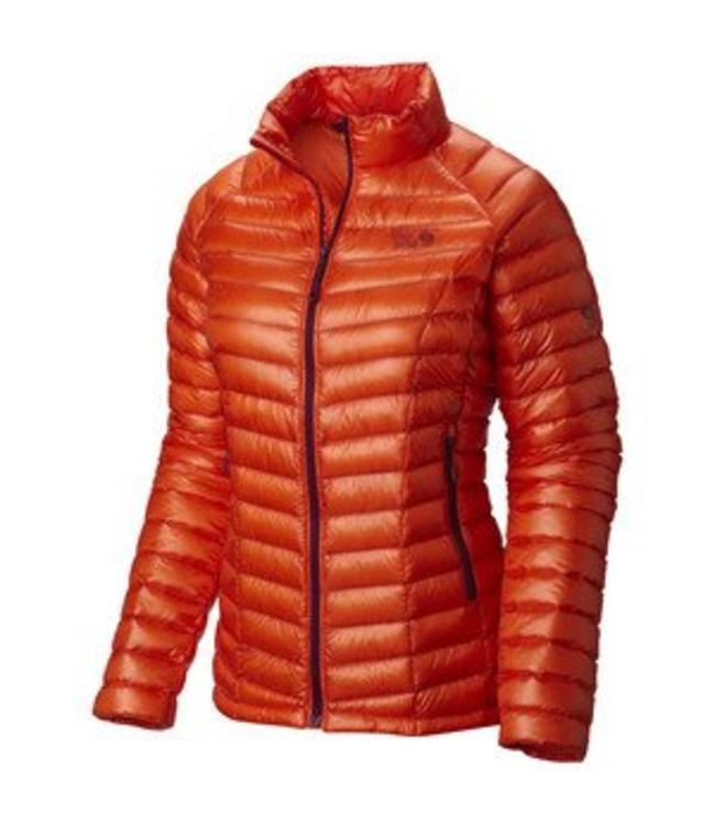 Mountain Hardwear Women's Ghost Whisperer Down Hooded Jacket- Naval Orange- XS