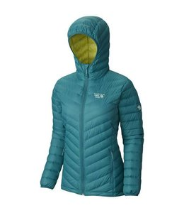 Mountain Hardwear Women's Micro Ratio Down Jacket-Teal Green/Bolt XS
