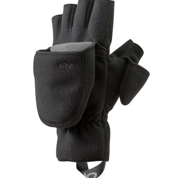 Outdoor Research Gripper Convertible Gloves Black