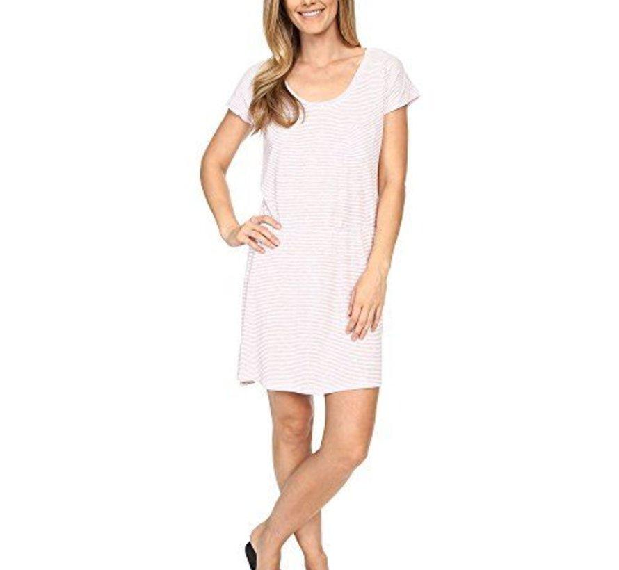 Women's Bennett T-Shirt Dress- Caribbean Stripe- S