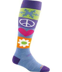 Darn Tough Women's Peace Love Snow Over-the-Calf Cushion Sock- Large