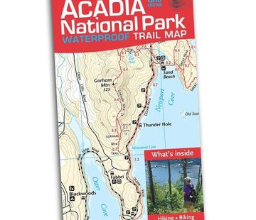 Map Adventures Acadia National Park Waterproof Trail Map