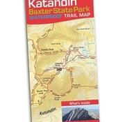Map Adventures Katahdin Baxter State Park Waterproof Trail Map