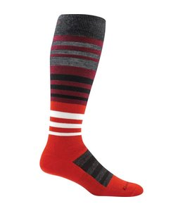 Darn Tough Men's Hojo Over-the-Calf Light Ski Socks Garnet Large