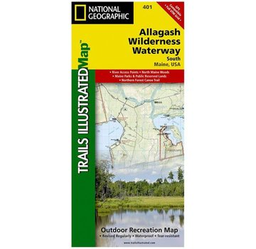 National Geographic Allagash Wilderness Waterway South Map
