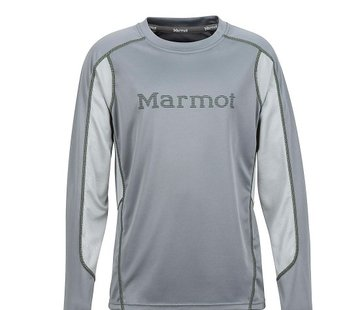 Marmot Boy's Windridge Graphic Long Sleeve Grey Storm