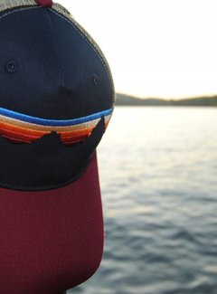 Locale Outdoors Teton Sunset Suede Maine Trucker Hat