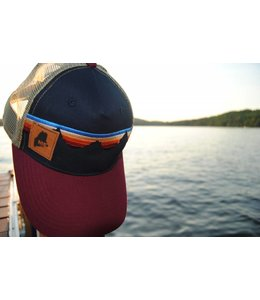 Cirque Suede Maine Emblem Trucker Hat