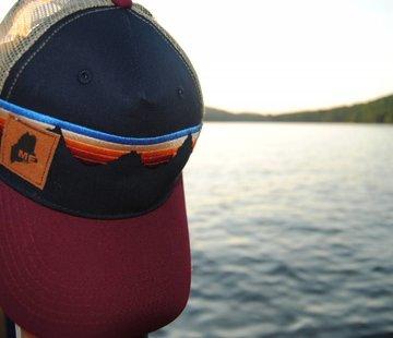 Locale Outdoors Teton Sunset Suede Maine Trucker Hat