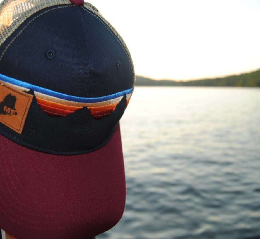 Teton Sunset Suede Maine Trucker Hat