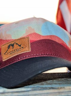 Locale Outdoors Suede Alpenglow Emblem Trucker Hat