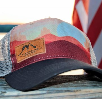 Locale Outdoors Suede Alpenglow Emblem Trucker Hat