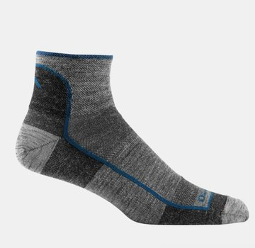Darn Tough Men's 1/4 Sock Light Charcoal