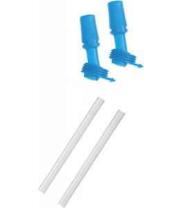 CamelBak Camelbak eddy Kids Bottle Accessory 2 Bite Valves/2 Straws, Ice Blue