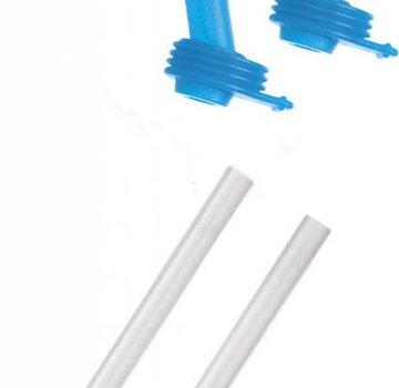 CamelBak Eddy Kid's Bottle Accessory 2 Bite Valves/2 Straws, Ice Blue