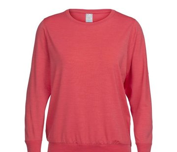 Icebreaker Women's Mira Long Sleeve Crewe - Prussian Blue - S
