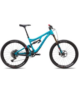 Pivot Cycles Pivot Cycles Mach 6 2018 Carbon Pro XO1 Large Aqua Blue Alloy Wheels