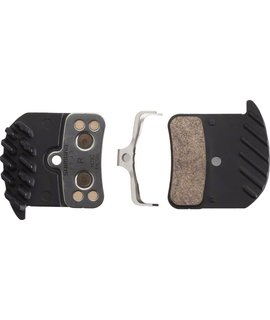 Shimano Shimano H03C Metal Disc Brake Pad with Fins and Spring for Saint BR- M820, Zee BR-M640