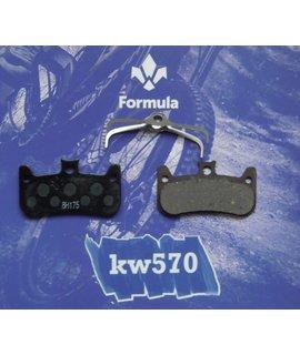 Formula Formula Italy Disc Pads, Cura-4 - Organic/Steel