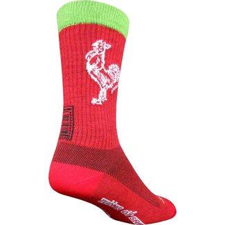SockGuy Wool Sriracha Sock: Red Small/Medium