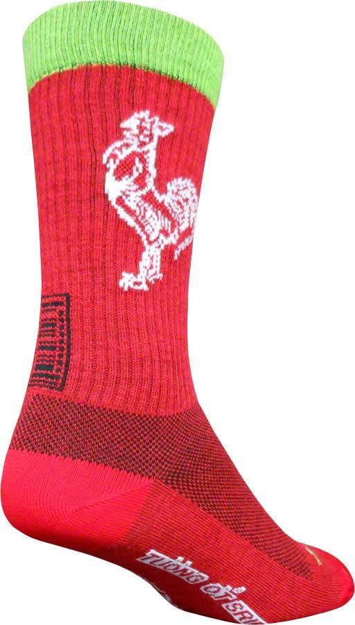 SockGuy Wool Sriracha Sock Red SM//MD