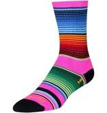 SockGuy Crew Siesta Sock: Pink/Multi-Color SM/MD
