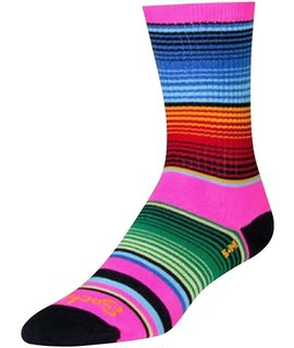 SockGuy Crew Siesta Sock: Pink/Multi-Color SM/MD