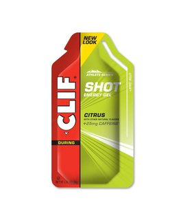 Clif Bar Clif Shot Gel, Citrus with 25mg Caffeine, single
