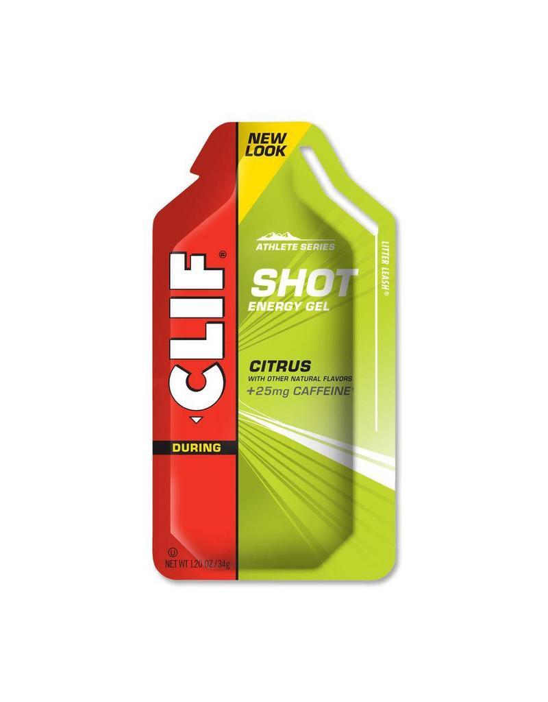 Clif Bar Clif Shot Gel, Citrus with 25mg Caffeine, single