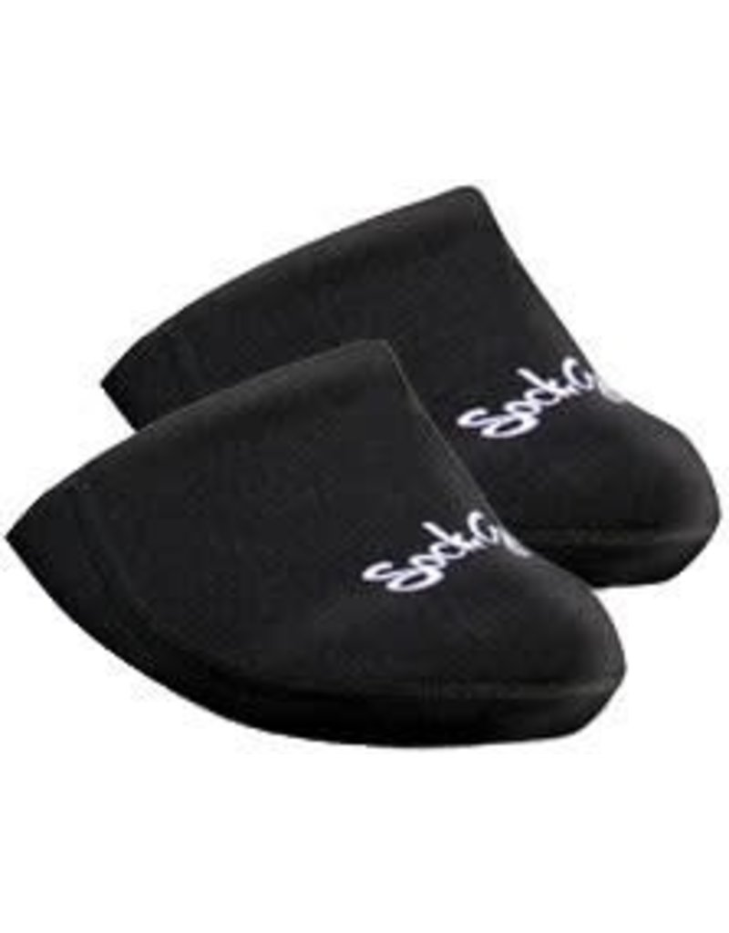SockGuy Cozy Toes, Toe Covers, Black - OS
