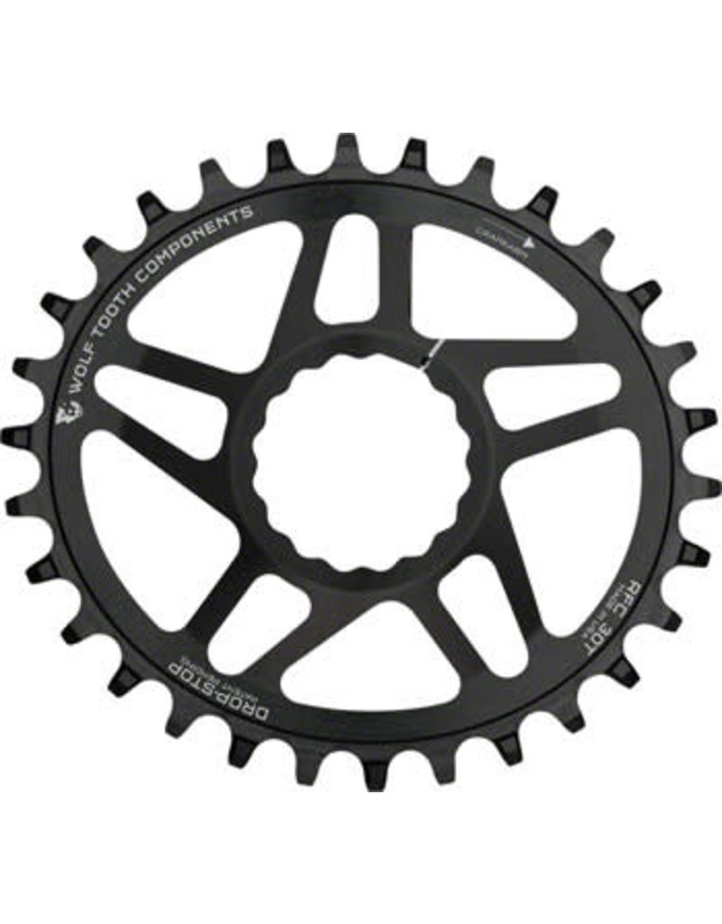 Wolf Tooth Wolf Tooth Powertrac Elliptical Drop-Stop Chainring: 32T, forRaceFaceCINCH Direct Mount, Boost Chainline