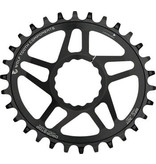 Wolf Tooth Wolf Tooth Powertrac Elliptical Drop-Stop Chainring: 30T, forRaceFaceCINCH Direct Mount, Boost Chainline