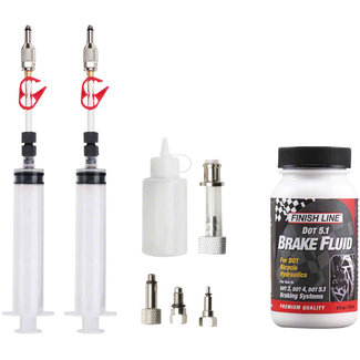 Jagwire Pro DOT Bleed Kit Includes Avid Formula Hayes Formula Hope Adaptors