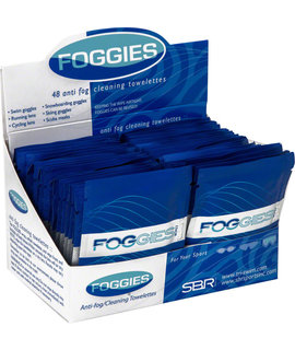 SBR Foggies Anti-Fog Cleaning Towelettes: Case of 48 single