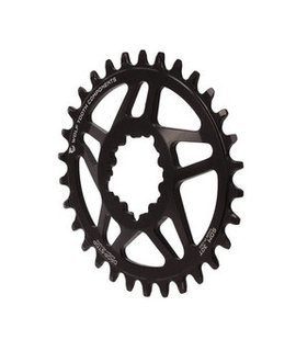 Wolf Tooth Wolf Tooth Powertrac Elliptical Direct Mount Drop-Stop Chainring - 30t, For SRAM GXP Cranksets, 6mm Offset, Black