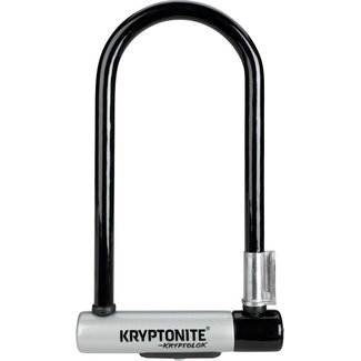 "Kryptonite KryptoLok U-Lock - 4 x 9"", Keyed, Black, Includes bracket"