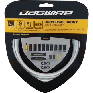 Jagwire Universal Sport Shift Cable Kit: White Kit