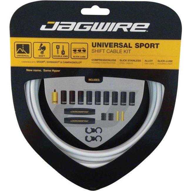 Jagwire Jagwire Universal Sport Shift Cable Kit: White Kit