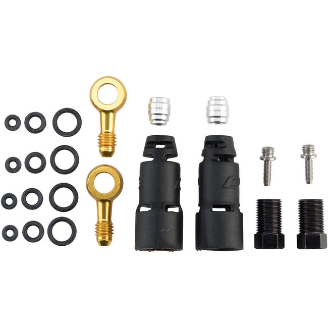 Jagwire Pro Quick-Fit Adapters for Hydraulic Hose - Fits SRAM Code R/RSC and Level TLM/Ultimate