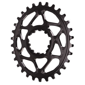 Absolute Black Absolute Black 30-Tooth Spiderless SRAM 3-Bolt Direct Mount Oval Chainring, 3mm Offset (Boost)