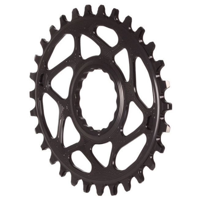 Absolute Black Absolute Black Spiderless Raceface Cinch Direct Mount Oval Chainring
