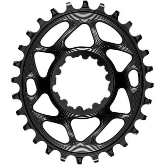 Absolute Black Absolute Black 32-Tooth Spiderless SRAM 3-Bolt Direct Mount Oval Chainring, 3mm Offset (Boost)