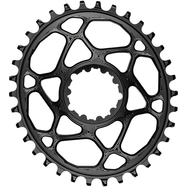 Absolute Black Absolute Black 34-Tooth Spiderless SRAM 3-Bolt Direct Mount Oval Chainring, 3mm Offset (Boost)